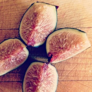 Quartered figs