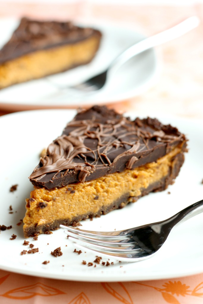 Chocolate Pumpkin Pie / forkfulofawesome