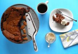 Mocha Pecan Cake with Coffee Whipped Cream
