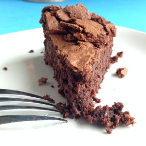 chocolate pecan cake wedge